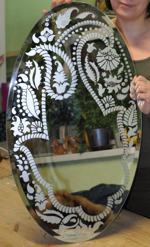 Матирование зеркала своими руками