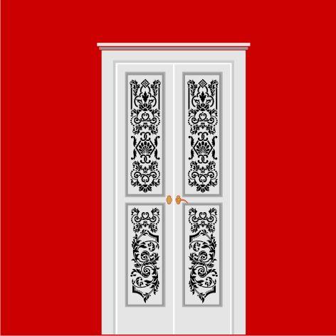Трафареты для дверей своими руками