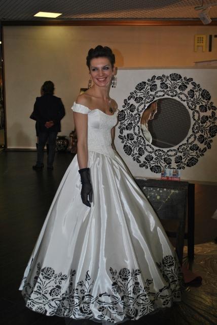рвадебное платье осенний бал.